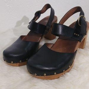 Dansko black Dotty Platform Clog  Size 40/10